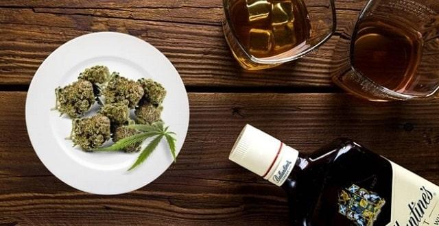 Mixer alcool et weed